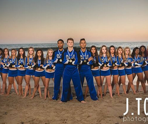 beach, cheer, and pose image