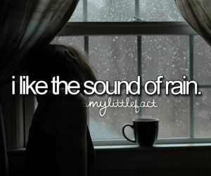 rain, sound, and quote image