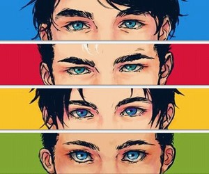 blue, dick grayson, and eyes image