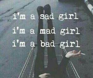 bad girl, blackandwhite, and done image