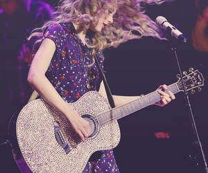 Taylor Swift, hair, and guitar image