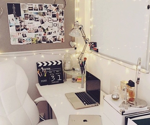 apple, fairy lights, and room image