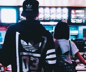 couple, girl, and adidas image