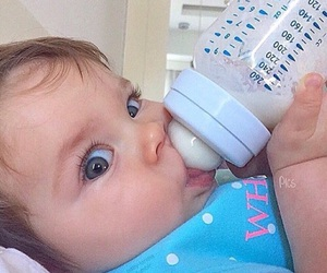 baby, cute, and milk image
