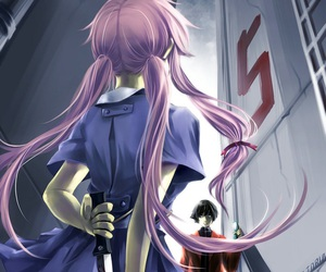 anime, mirai nikki, and yuno gasai image