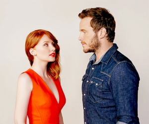 chris pratt, bryce dallas howard, and jurassic world image