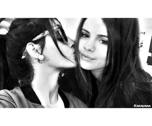 kiss, selena gomez, and celena image