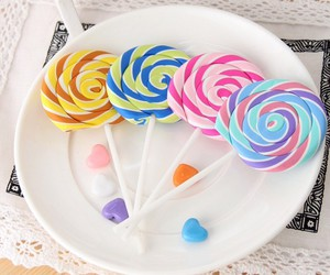 colors, candies, and delicious image