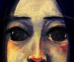 eyes, art, and stars image