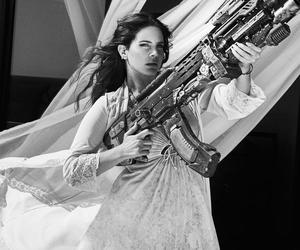 lana del rey, high by the beach, and gun image