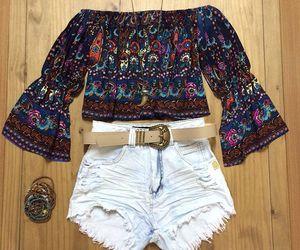 blusa, fashion, and hot pants image