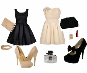 dresses, girly, and highheels image