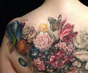 floral tattoo and butterfat studios image