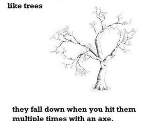 9gag, axe, and tree image