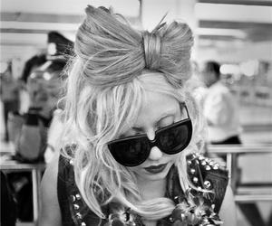 Lady gaga, hair, and black and white image