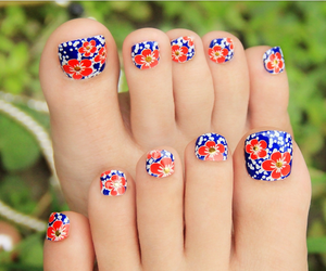 nail art, nail stickers, and 3d toe nail image