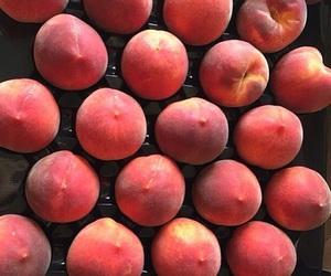 fruit, peaches, and orange image