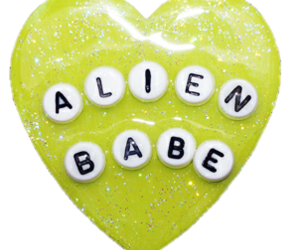 alien, glitter, and heart image