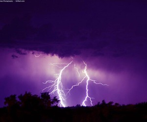 purple, lightning, and grunge image