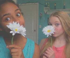 besties, colorful, and flowers image