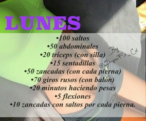 energy, lunes, and fitness image