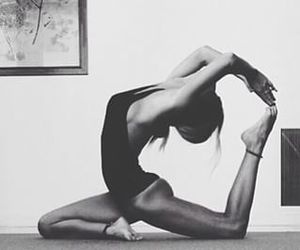 black and white, health, and yoga image