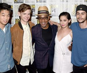 thomas sangster, the maze runner, and giancarlo esposito image