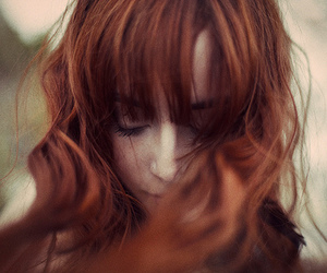beautiful, curly, and red hair image