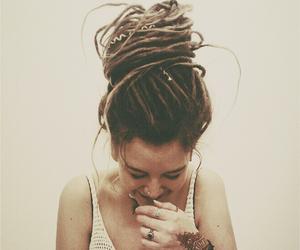 girl, dreadlocks, and hair image