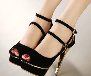 black and gold and high heels image