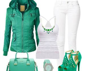 cool, green, and outfit image