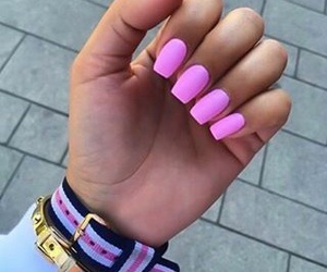 nail, pink, and nails image