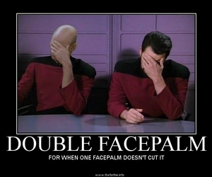facepalm, star trek, and funny image