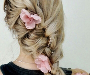 blond, fancy, and flowers image