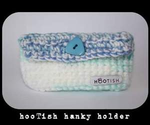 blue, crochet, and hankyholder image