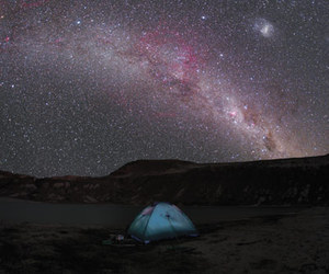 sky, stars, and camping image