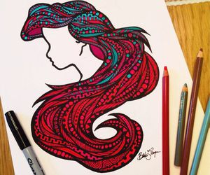 drawing, ariel, and disney image