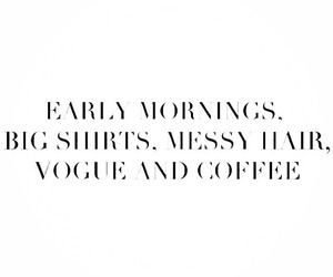 vogue, coffee, and morning image