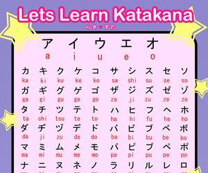 japanese, katakana, and anime image