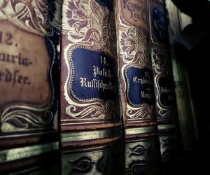 books, dark, and photo image