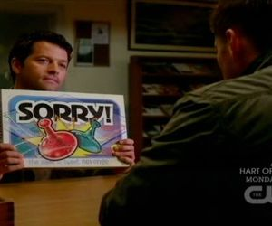 supernatural, castiel, and sorry image