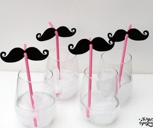mustache, moustache, and drink image