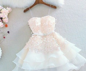dress, white, and outfit image