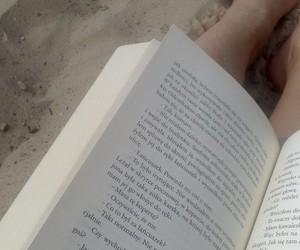 beach, tumbrlgirl, and book image