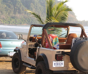 beach, summer, and jeep image