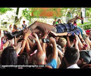blue hair, crowd surfing, and warped tour 2015 image