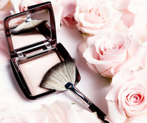 pink, flower, and make up image