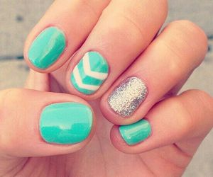 beauty, turquoise nails, and girls image