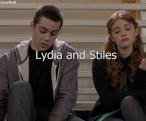 teen wolf, stiles, and and lydia image