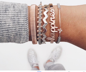 arm candy, bling bling, and bracelets image